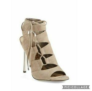 Nib! Sam edelman palma putty suede heels 6.5